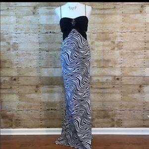 Camille La Vie Zebra Formal Gown Size 4